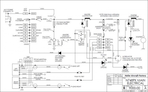 N748PK main electrical schematic