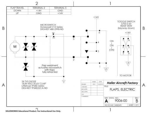Flap switch schematic