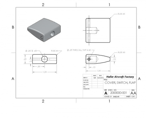 SolidWorks model of flap thingy