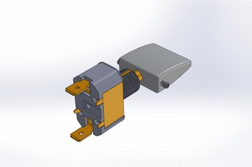 SolidWorks flap switch assy
