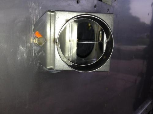 Looking into cabin heat control box