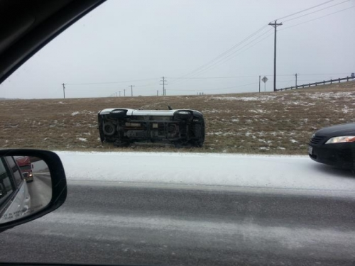 One of Several Rollover Accidents We Saw