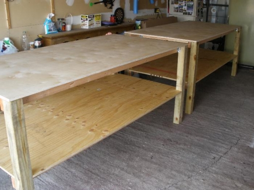 4'x8' work benches