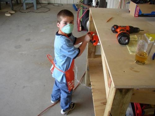 Tyler Fixing my Bench