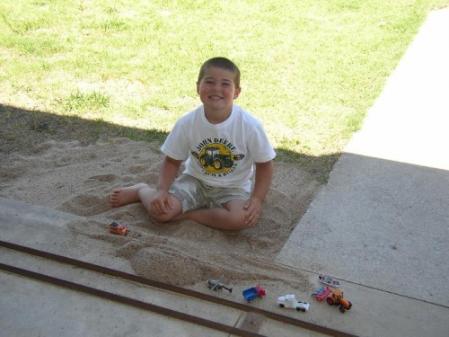Tyler Playing in the Sand