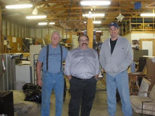 Jim, John and me in Jim's Shop