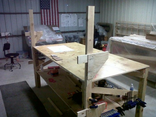 Jig Ready for Spars and Ribs