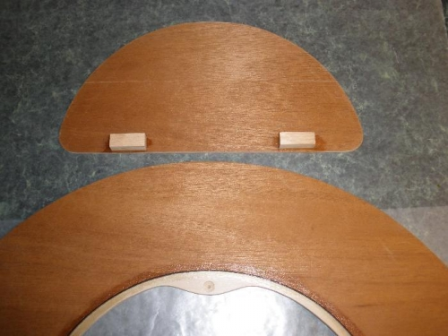 Inside of Door with Hinge Blocks