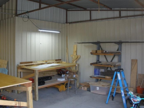 Material storage and Project Preparation Area