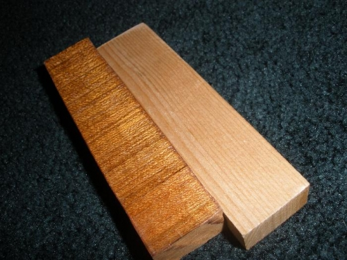 Sample Cherry and Spruce varnished