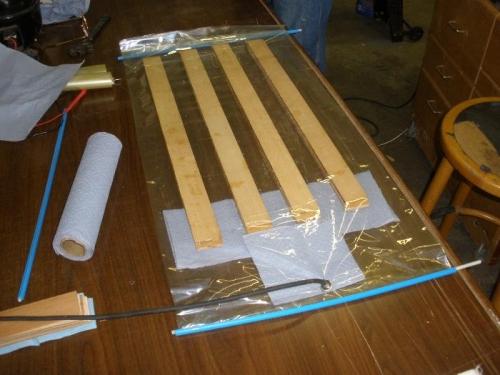 Four Cabane Struts Ready for Vaccum