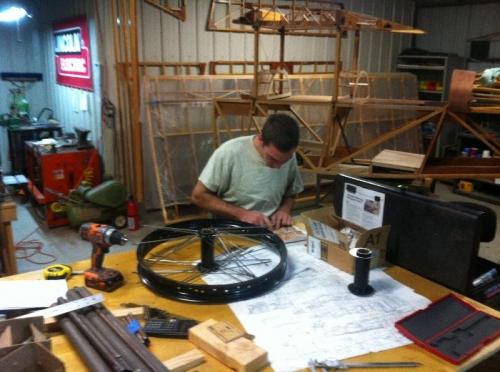 Josiah Morgan Lacing the Wheels