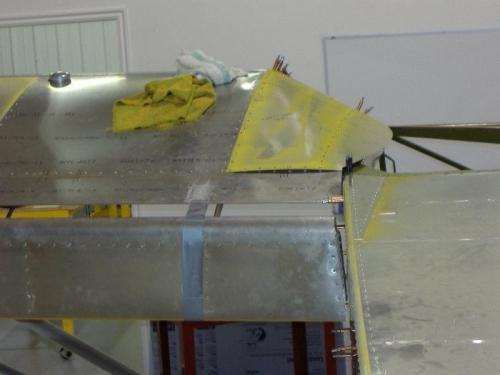 Rear view: inboard skin