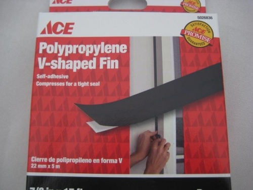V-shaped weather stripping