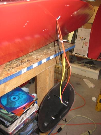 Wires soldered and with heat shrink tubing