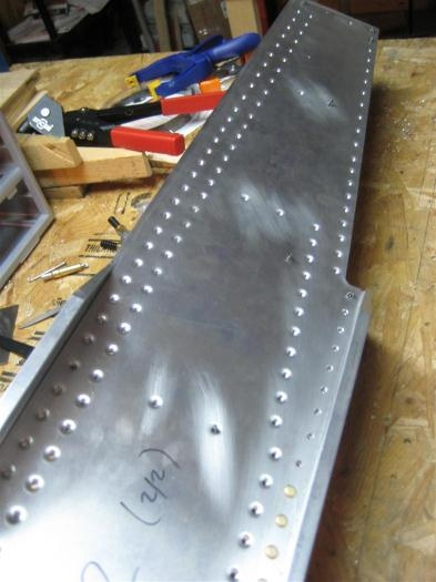 Dimpled, ready for flush rivets