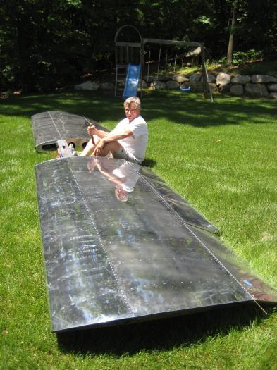 Max, piloting the wings!