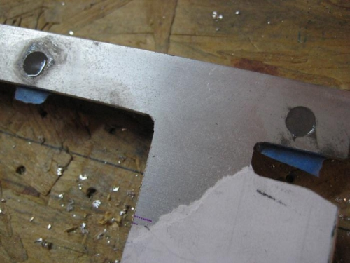 JB Weld in the holes accidentally countersunk