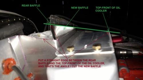 How I got the angle to cut the new baffle
