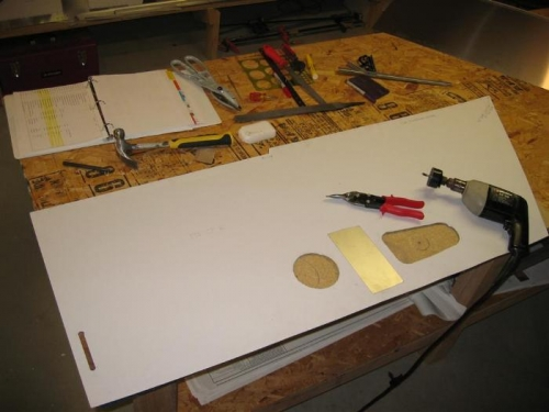 Using hole saws to make the cutouts