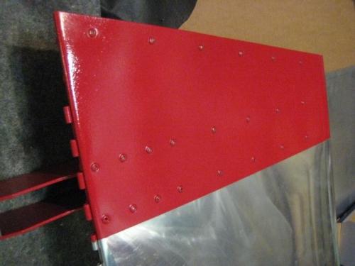 Polished left aileron
