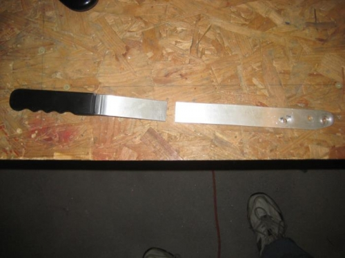 Cut existing brake handle.