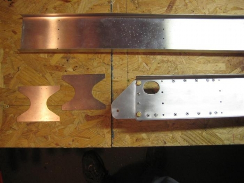 W12-04 splice plates + finished W12-01 rear spar root