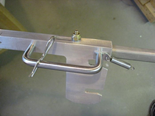 New (per plans) canopy slide handle.