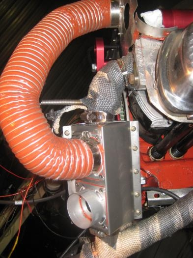 Muff with the upper Scat tubing in place