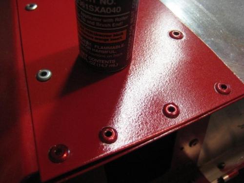 3 closest rivet heads have Subaru touch up paint