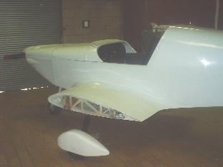 SIDE VIEW OF FINALLY PAINTED FUSELAGE