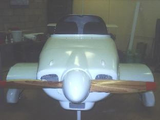 FRONT VIEW OF FINALLY PAINTED FUSELAGE