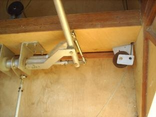 CONTROL STICK AND PULLEY BRACKET