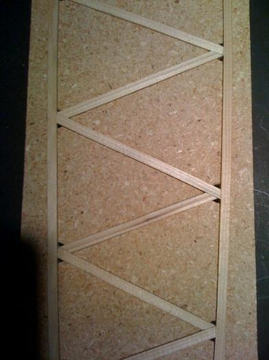 Diagonals cut and fit.  But not glued.
