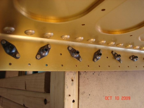Nut plate Rivets