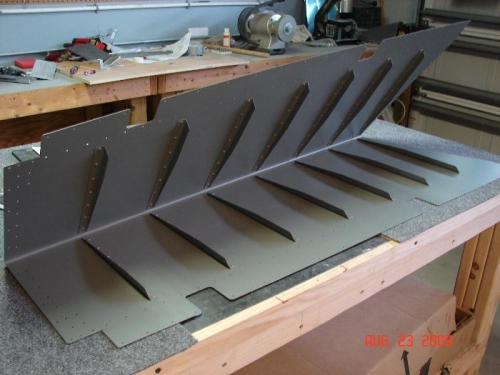 Riveted Stiffeners to Right Skin