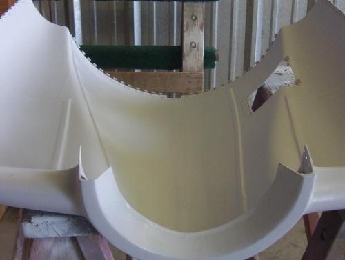 Finish inside of upper cowl