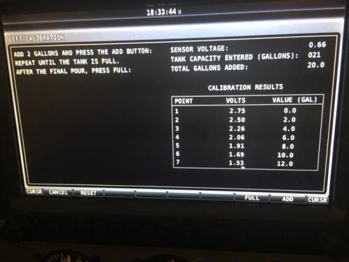 L. fuel tank calibration