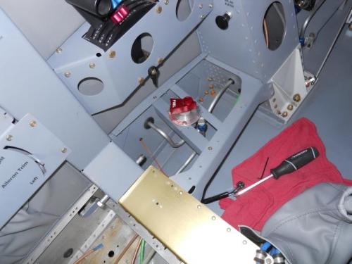 Fuel valve handle installed