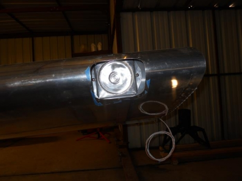 Light installed in wing
