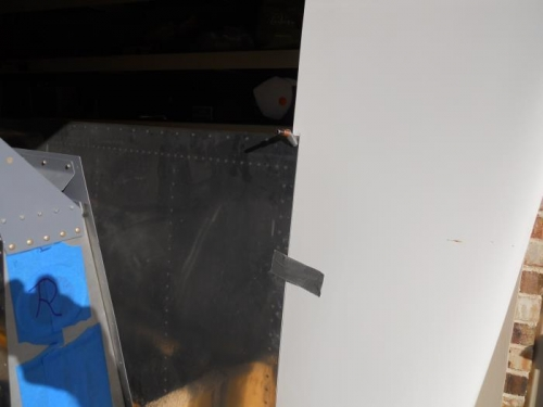 Pic not great, but sanded edge to fit wing