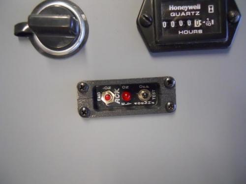 Installed black screws to secure ELT remote