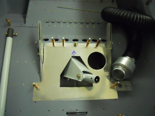 Match drilled cover to control mount