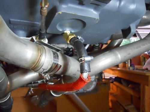 45 degree fiitting and sniffle valve