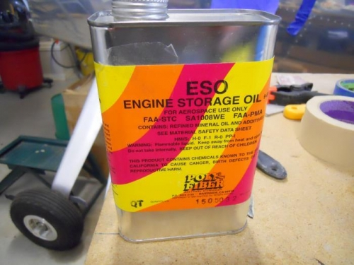 1/2 pint of ESO poured in each cylinder