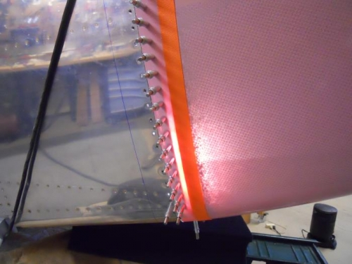 Back lit to drill holes in cowl
