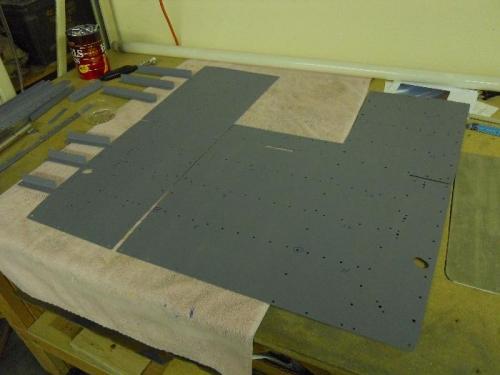 Primed L & R floor panels