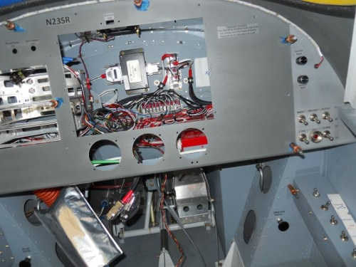 Clecoed in the instrument panel