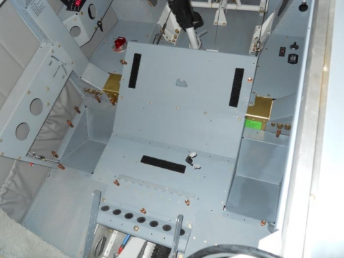 Floor board/footwells temp installed