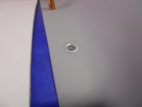 Tinnerman washer & screw fit flush